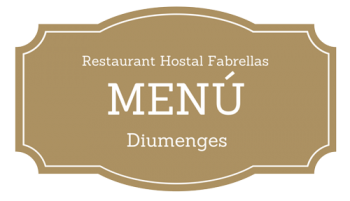 menu Hostal Fabrellas