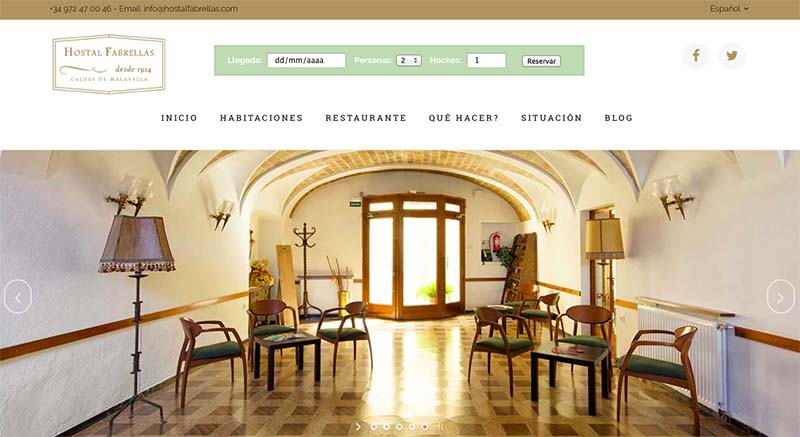 WEB HOSTAL FABRELLAS