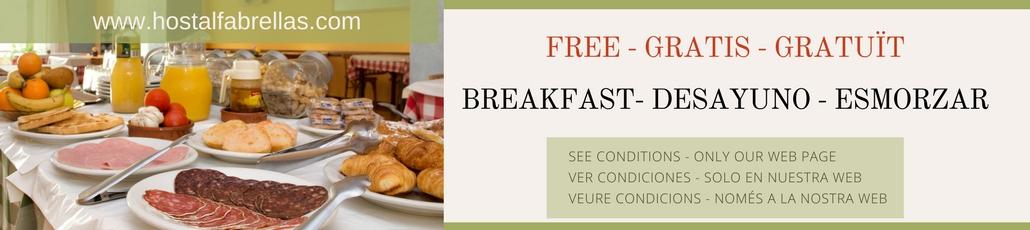 hostal_fabrellas_desayuno_gratuito